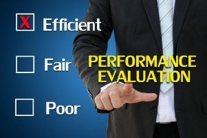 Performance evaluation for human resources concept