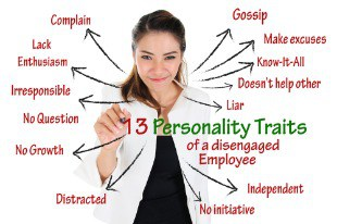 Personality Traits of Disengaged Employee