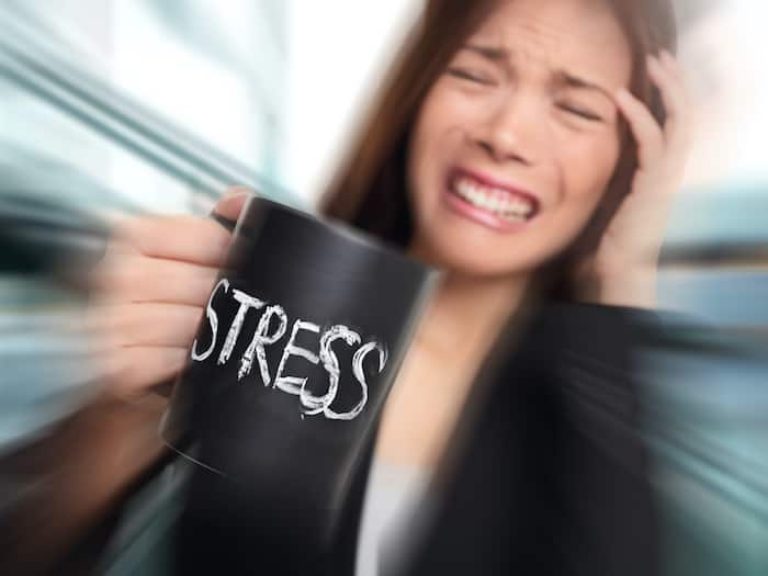 Stress - Lady holding cup